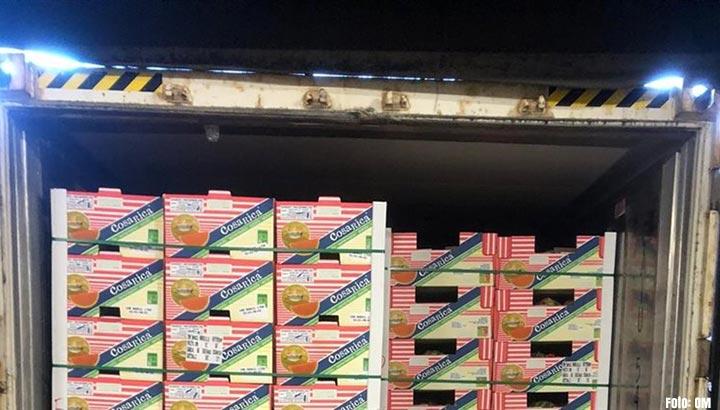 Partij coke tussen de meloenen gevonden bij fruitoverslagbedrijf in Ridderkerk