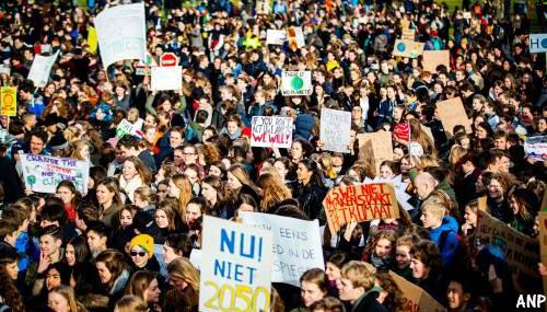 Opnieuw scholierenprotest in Den Haag