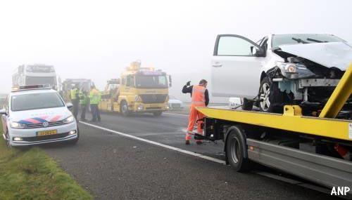 A32 weer open na ongevallen