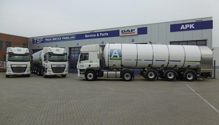 Vier DAF CF 450FT voor AB Texel Group