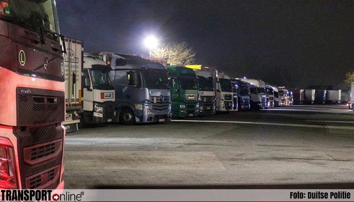 Duitse politie controleert opnieuw op alcoholgebruik bij vrachtwagenchauffeurs [+foto's]