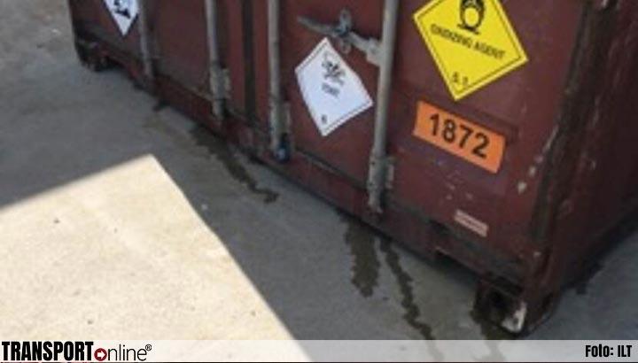 ILT onderschept lekkende containers met gevaarlijke stoffen