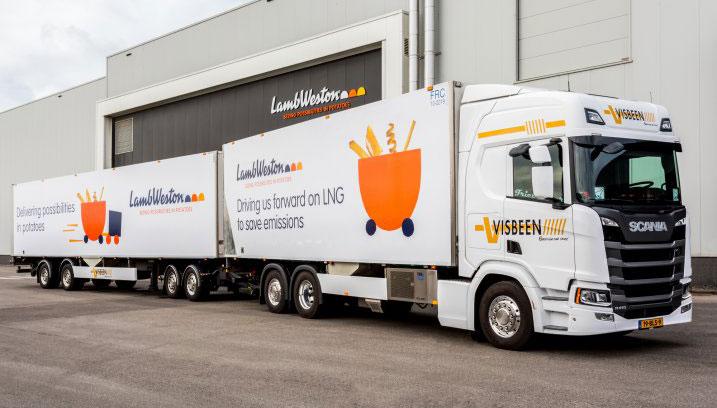 Duurzame frietjes dankzij transport met LZV op LNG
