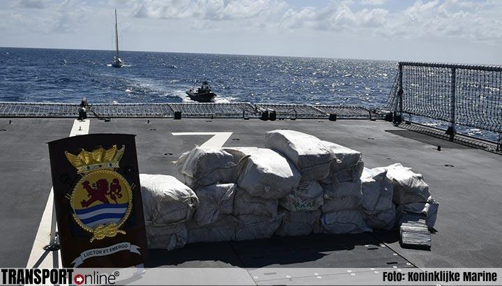 Marineschip onderschept wederom grote hoeveelheid cocaïne