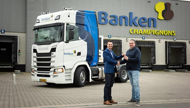 Banken Champignons kiest na lange tijd weer voor Scania