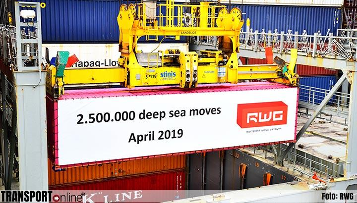 RWG slaat 2,5 miljoenste deep sea container over
