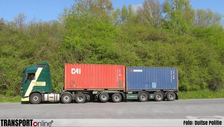 Duitse politie haalt overbeladen Nederlandse vrachtwagen van de weg [+foto]