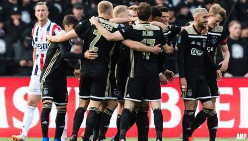 Ajax wint KNVB-beker met zege op Willem II