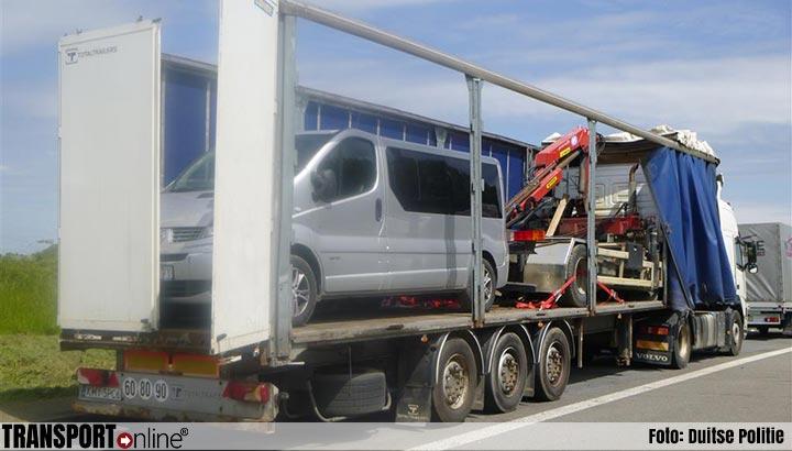 Vrachtwagenchauffeur zakt in elkaar wanneer hij hoort dat hij rijverbod krijgt [+foto]