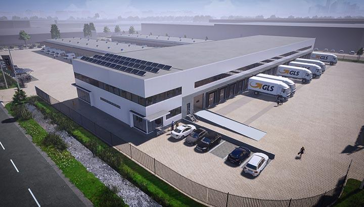 Nieuw GLS-depot Amsterdam in aanbouw