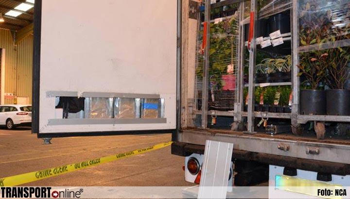 Nederlandse vrachtwagenchauffeur vast in Groot-Brittannië vanwege drugssmokkel [+foto's]