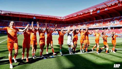 2,7 miljoen kijkers voor Oranjevrouwen