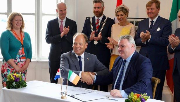 Ierse havens Cork en Amsterdam gaan samenwerken