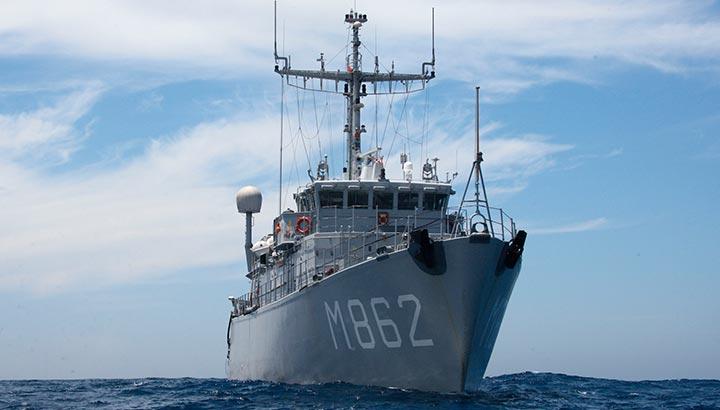 Nederlandse marine en NAVO-schepen ruimen tien explosieven op Noordzee
