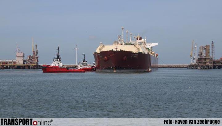 Zeebrugge ontving voor het eerst een Q-Max LNG-schip