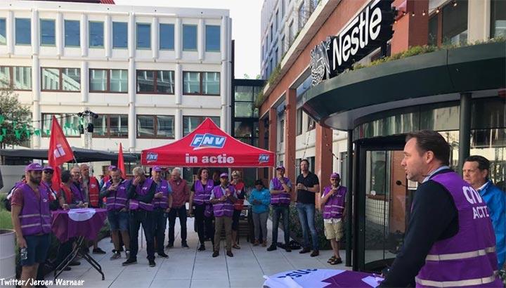 Nestlé werknemers in Nunspeet gaan 24 uur staken