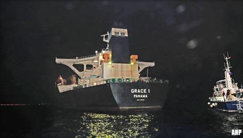 Iraanse olietanker Grace 1 bij Gibraltar langer vast