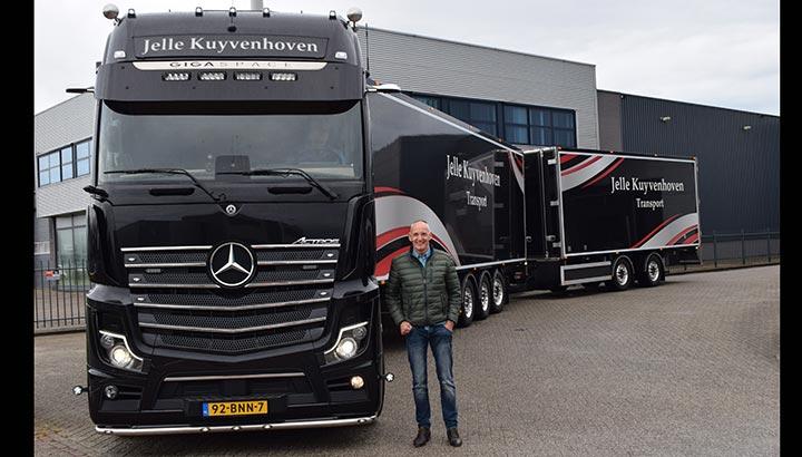 Volledig spiegelloze Mercedes-Benz Actros voor eigen rijder Jelle Kuyvenhoven