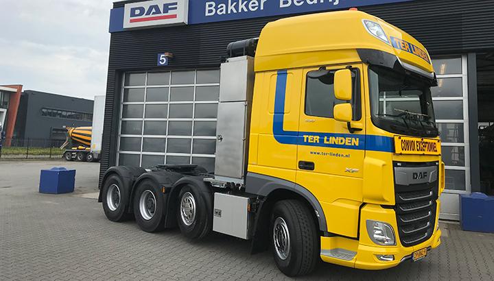 Zevende nieuwe DAF zwaartransport trekker voor Ter Linden Transport