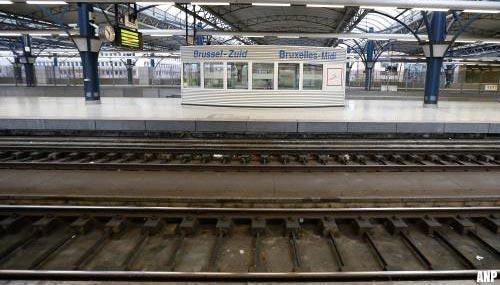 Staking treft treinverkeer België