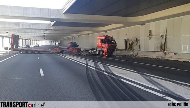 A4 afgesloten na ongeval met vrachtwagen [+foto's]