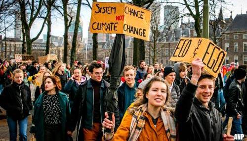 Klimaatstakers de straat op in Den Haag