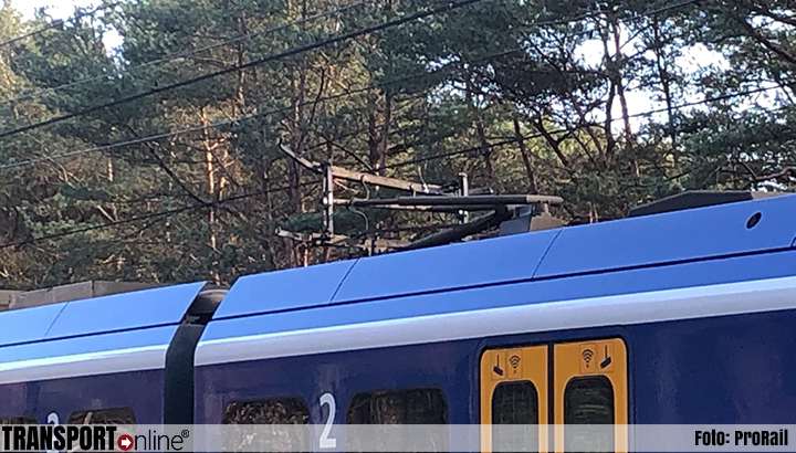 Tussen Putten en Nunspeet rijden geen treinen door breuk in bovenleiding