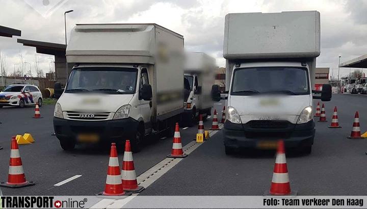 Vier overbeladen bedrijfswagens met onder invloed verkerende chauffeurs tijdens transportcontrole gepakt