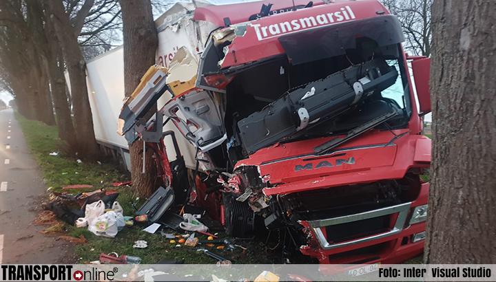 Vrachtwagen van de weg geblazen op N247 [+foto]