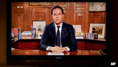 Bijna 5,4 miljoen kijkers voor toespraak premier Rutte