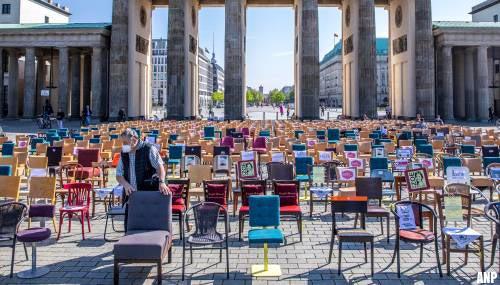 Steeds meer Duitsers betogen tegen strenge coronaregels