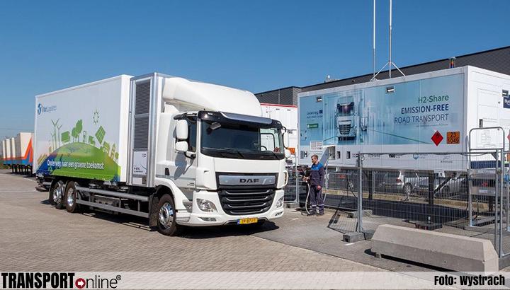 H2-Share's eerste vrachtwagen op waterstof rijdt in Nederland
