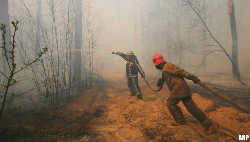 Grote brand bedreigt kerncentrale Tsjernobyl