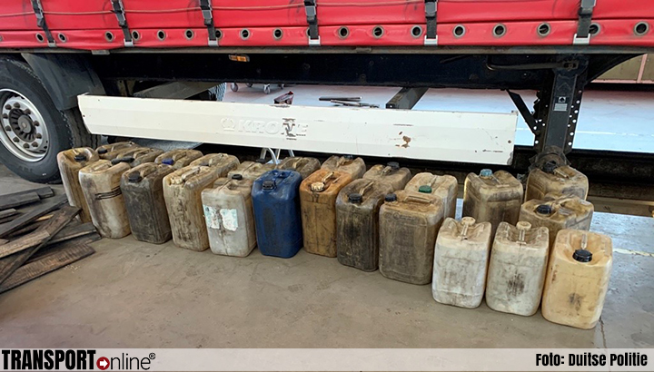 Politie neemt Roemeense trailer met dubbele bodem vol diesel in beslag [+foto's]