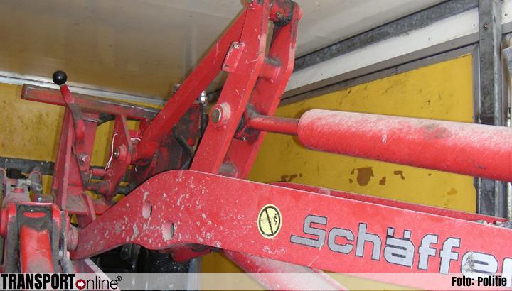 Gestolen mini-shovels aangetroffen in vrachtwagen bij transportcontrole