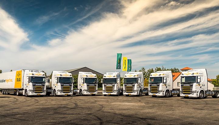 Zeven LNG Scania-trekkers voor DLG