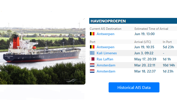 Tanker 'Minerva Oceania' in Antwerpen aan de ketting vanwege corona-uitbraak