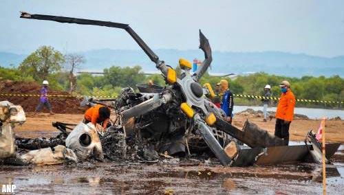 Vier doden en vijf gewonden bij helikoptercrash Indonesië