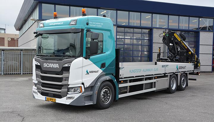 Nieuwe Scania G410 6x2 voor Goemaat