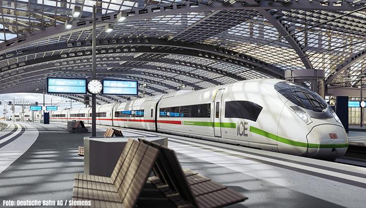 Deutsche Bahn bestelt dertig ICE-hogesnelheidstreinen bij Siemens