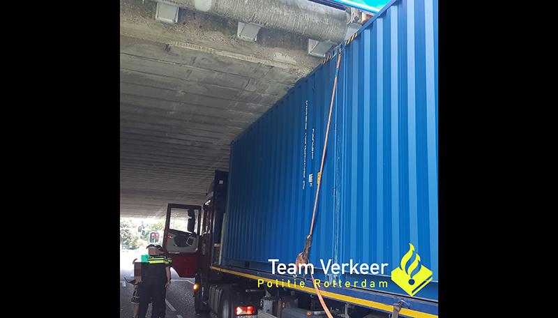 Opnieuw 1.000 euro boete voor te hoge vrachtwagen [+foto]