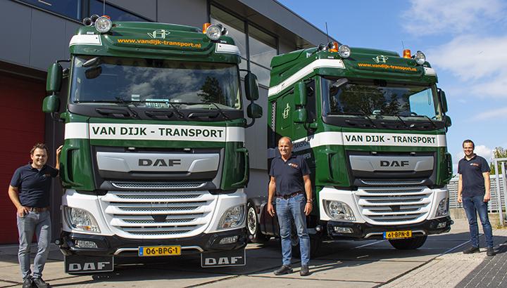 Twee nieuwe DAF XF 430 FTG-trekkers voor Van Dijk Transport