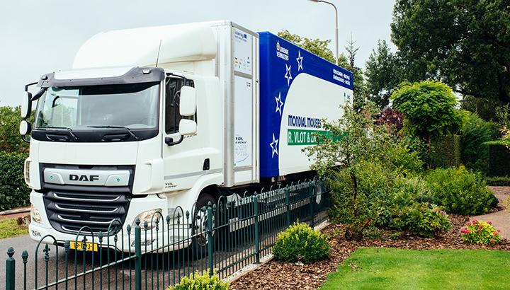 Primeur: eerste verhuizing in Nederland met waterstofverhuiswagen