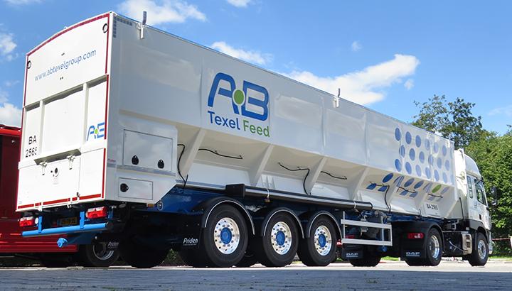 Eerste ZERO-T oplegger voor AB Texel Group