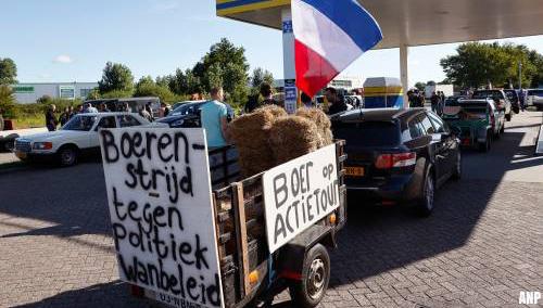 Boeren uit het noorden onderweg naar protest bij De Bilt