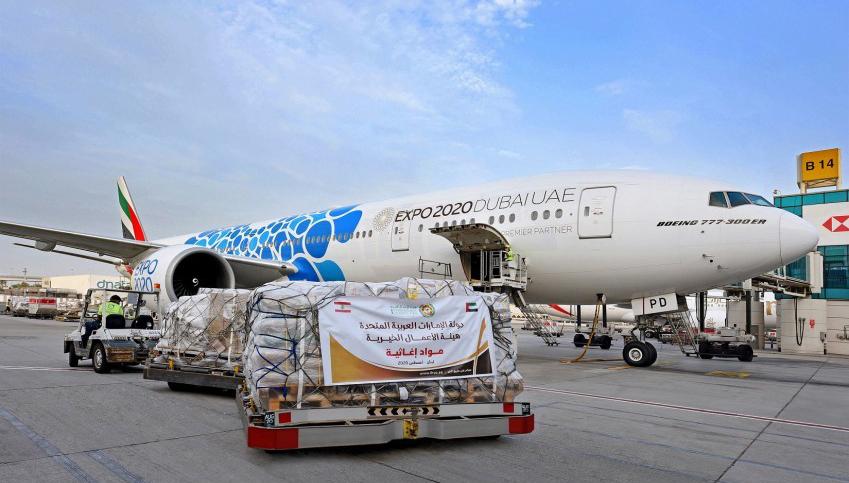 Emirates zet speciale luchtbrug op van Dubai naar Libanon voor meer dan 50 vluchten met noodhulp