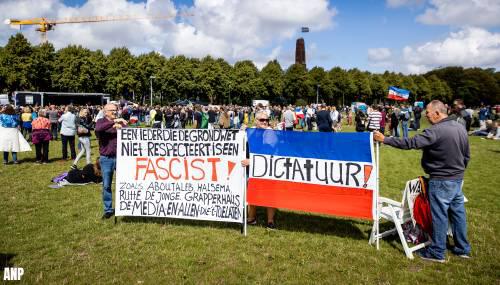 Circa duizend demonstranten op Malieveld tegen coronamaatregelen