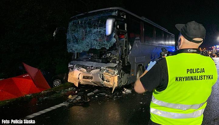 Doden door busongeluk in Polen