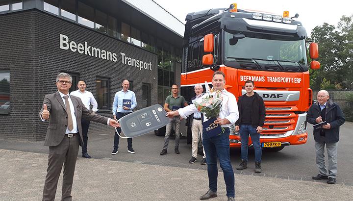 Honderdste DAF voor Beekmans Transport