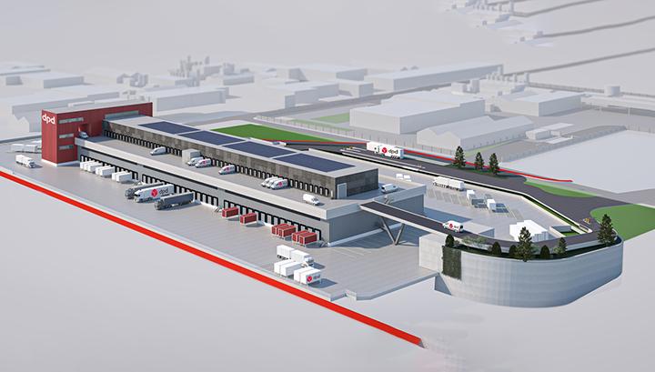 DPD en Montea ontwikkelen hypermodern sorteercentrum in Vilvoorde